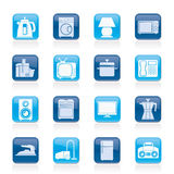 Home equipment icons Royalty Free Stock Photo