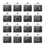Home equipment icons Stock Photos