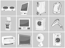 Home equipment illustrations Stock Image
