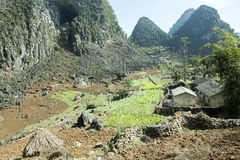 Home of ethnic minorities. Ha Giang is one of the six poorest provinces of Vietnam. Ha Giang is a famous tourist destination in Vietnam Stock Images