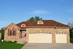 HOME executiva suburbana Foto de Stock Royalty Free