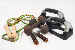Home exercise tools basic Royalty Free Stock Image