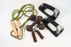 Home exercise tools basic Stock Images