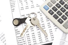 Home expenses Stock Images