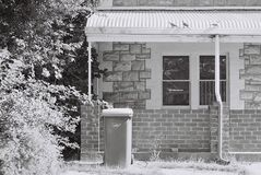 Home exterior in black and white Stock Photography