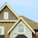 Home Exterior Details Roof  Stock Image