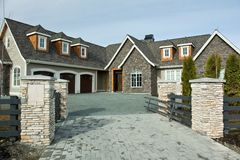 Home Exterior Front Entrance Royalty Free Stock Image
