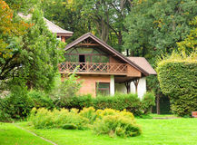 Home Exterior. Of House with Landscaping royalty free stock photos