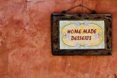 A HOME fêz desertos Imagem de Stock
