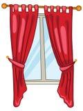 home fönster för tecknad film Royaltyfria Bilder