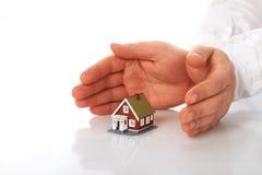 Home försäkring. Royaltyfria Bilder