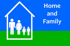 Home and family vector illustration