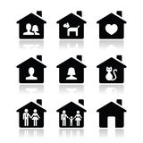 Home, family  icons set Royalty Free Stock Photography