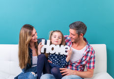Home family smiling Royalty Free Stock Images