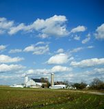 At Home on the Farm. A farm after the harvest Royalty Free Stock Images