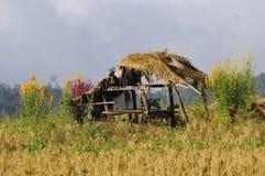 Home on farm stock photography