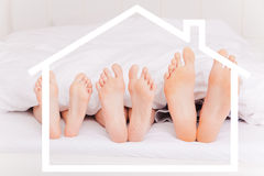 Home feet bed Stock Image