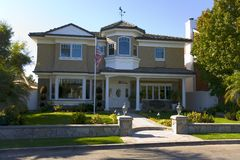 HOME feita sob encomenda na praia de Newport, CA foto de stock royalty free