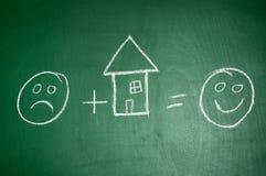 HOME feliz Imagem de Stock