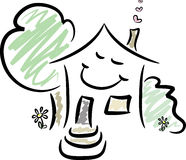 HOME feliz Imagens de Stock