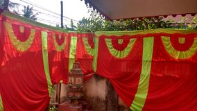 Home Festival curtains royalty free stock photo