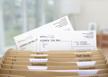 Home filing dividers for council tax Royalty Free Stock Photo