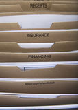 Home filing dividers Stock Images