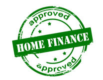 Home finance approved. Rubber stamp with text home finance approved inside, vector illustration Royalty Free Stock Images