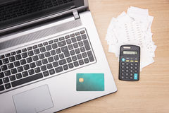 Home finance scene Stock Photography