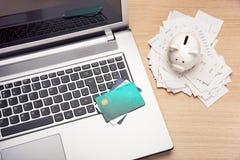 Home finance scene Stock Image