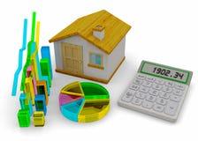 Home Finances Concept - 3D Royalty Free Stock Photos