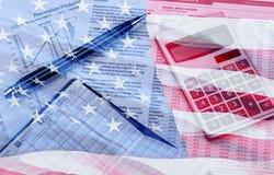 Home Finances. Finance Calculator Loan Banking Bill Check stock photo