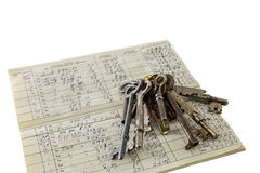 Home financial security concept keys money management Stock Photography
