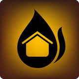 Home on fire Stock Image