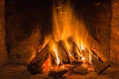 Home Fire Brick Stone Stock Photo