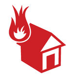Home fire icon. Vector illustration of the home fire icon Stock Photos