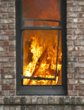Home Fire Stock Image