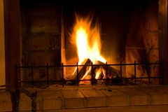 Home fireplace Royalty Free Stock Photo