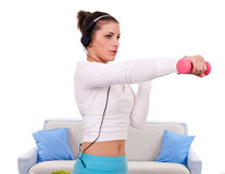 Home fitness Stock Image