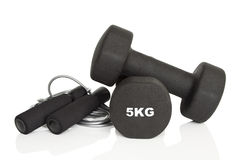 Home fitness equipment Stock Photos