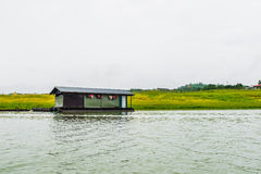 Home floating solitary lifestyle traditional. At sangkhlaburi,kanchanaburi,thailand Royalty Free Stock Photo