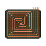 Home floor heater icon, flat style vector illustration