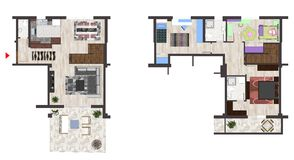 Home floor plan Royalty Free Stock Image