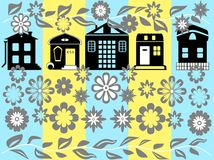 Home and flowers. Different kinds of homes and flowers Royalty Free Illustration