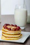 Home fluffy pancakes Royalty Free Stock Image