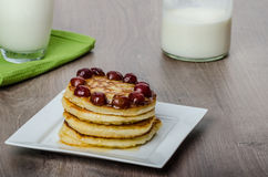 Home fluffy pancakes Stock Photo