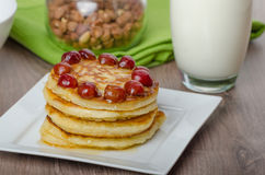 Home fluffy pancakes Royalty Free Stock Photo