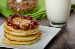 Home fluffy pancakes Stock Images