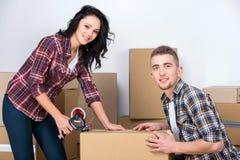 home flytta sig Fotografering för Bildbyråer