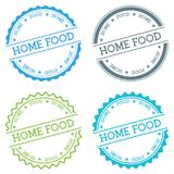 Home food badge isolated on white background. Flat style round label with text. Circular emblem vector illustration Stock Photo